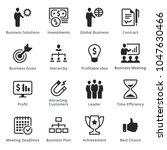 business icons   set 2 | Shutterstock .eps vector #1047630466
