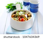 vegetable stew ratatouille | Shutterstock . vector #1047634369
