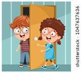 vector illustration of kid... | Shutterstock .eps vector #1047637636