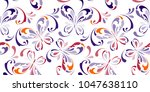 floral seamless pattern.... | Shutterstock .eps vector #1047638110
