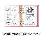 bullet journal universal... | Shutterstock .eps vector #1047644998