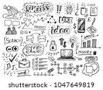 business doodles hand drawn... | Shutterstock .eps vector #1047649819