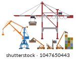 Set Of Container Loaders ...