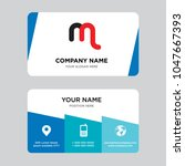 mn or nm business card design... | Shutterstock .eps vector #1047667393