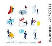 business and finance icons on... | Shutterstock .eps vector #1047677986