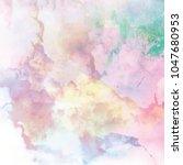 abstract watercolor galaxy... | Shutterstock . vector #1047680953