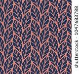geometric seamless leaf vector... | Shutterstock .eps vector #1047683788