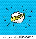 comic bubble on halftone... | Shutterstock .eps vector #1047684190