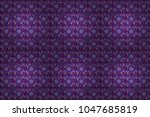 ethnic floral seamless pattern... | Shutterstock . vector #1047685819