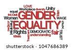 gender equality typography word ... | Shutterstock . vector #1047686389