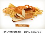 carbohydrates. bread  pasta ... | Shutterstock .eps vector #1047686713