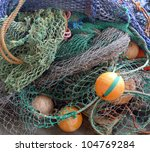 Background Of Fishing Nets And...