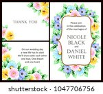 romantic invitation. wedding ...   Shutterstock .eps vector #1047706756