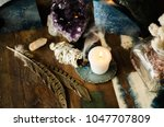 sacred space still life with... | Shutterstock . vector #1047707809