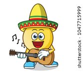 emoticon playing guitar and...   Shutterstock .eps vector #1047715999