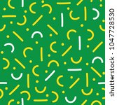 memphis theme seamless pattern | Shutterstock .eps vector #1047728530