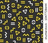 memphis theme seamless pattern. ... | Shutterstock .eps vector #1047728644