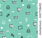 memphis theme seamless pattern. ... | Shutterstock .eps vector #1047728650