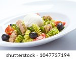 salad with pasta | Shutterstock . vector #1047737194