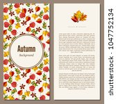 banners set of autumn leaves... | Shutterstock .eps vector #1047752134