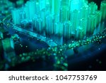 internet of things. futuristic... | Shutterstock . vector #1047753769