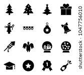 solid vector icon set  ... | Shutterstock .eps vector #1047756010