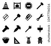 solid vector icon set   road... | Shutterstock .eps vector #1047756016