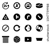 solid vector icon set   24... | Shutterstock .eps vector #1047759988