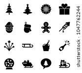 solid vector icon set  ... | Shutterstock .eps vector #1047762244