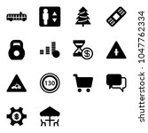 solid vector icon set   airport ... | Shutterstock .eps vector #1047762334