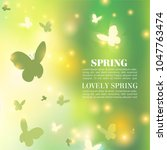 spring background. bokeh vector ... | Shutterstock .eps vector #1047763474