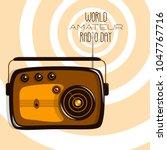 world amateur radio day. retro... | Shutterstock .eps vector #1047767716