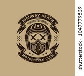 motorcycle club helmet... | Shutterstock .eps vector #1047779539