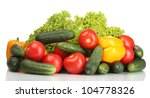 fresh vegetables isolated on... | Shutterstock . vector #104778326