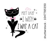 Black Cat And Letering  Most...