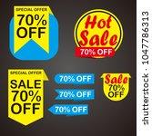 sale label design | Shutterstock .eps vector #1047786313