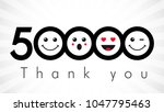 thank you 50000 followers... | Shutterstock .eps vector #1047795463