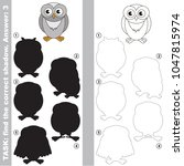 snowy owl to find the correct... | Shutterstock .eps vector #1047815974
