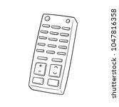 vector set of remote control | Shutterstock .eps vector #1047816358