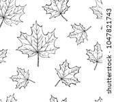 simle seamless pattern with... | Shutterstock .eps vector #1047821743