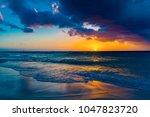 brilliant vacation destination... | Shutterstock . vector #1047823720