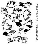 spring inspirational doodle... | Shutterstock .eps vector #1047825469