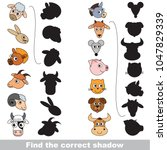 farm animals set to find the... | Shutterstock .eps vector #1047829339