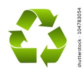 recycle logo symbol isolated on ... | Shutterstock . vector #104783054