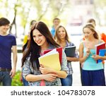 group student with notebook on... | Shutterstock . vector #104783078