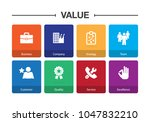 value infographic icon set | Shutterstock .eps vector #1047832210