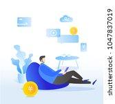 evaluation of online support ... | Shutterstock .eps vector #1047837019