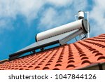 Solar Water Heater On Roof Top  ...