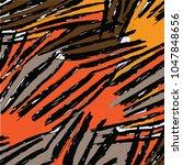 zebra animal skin pattern | Shutterstock .eps vector #1047848656
