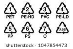 plastics recycling symbol ... | Shutterstock .eps vector #1047854473